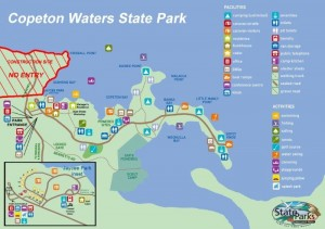 Map of Copeton Waters State Park facilities