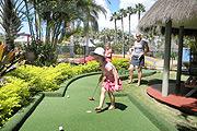 On-site mini golf at Maroochy Palms Holiday Village